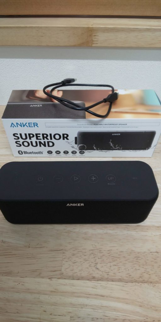 Anker SoundCore Boost(第二世代)の実物写真